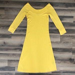 Ralph Lauren Yellow Off The Shoulder Dress